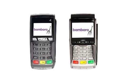 Produktpresentasjon av to bankterminaler